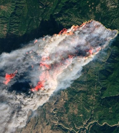 california wildfires aerial view