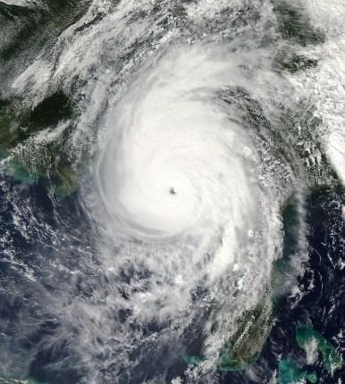 hurricane michael satellite view